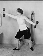 Sportswoman Photo Framed Prints - Silent Still: Exercise Framed Print by Granger