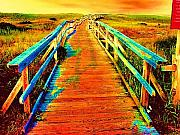 Walkway Mixed Media - 2355Z  Wooden  Walkway by Ed Immar