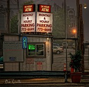 Fog Photo Posters - 24 Hour ATM Poster by Bob Orsillo