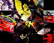 Nascar Digital Art Prints - 24 Print by Ken Walker