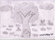 Save The Girl Child Drawings - 24 by Maitri Joshi