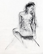 Female Nude Drawings - RCNpaintings.com by Chris N Rohrbach