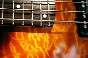 Bass Guitar Framed Prints - 24th Fret Framed Print by Gary Kaylor