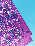 Circuitry Framed Prints - Circuit Board Framed Print by Tek Image