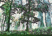 Sweating Painting Prints - Forest Print by Odon Czintos