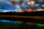 Blue Clouds Colors Lake Landscape Mountain Nature Outdoor Peaceful Acrylic Prints - Mountain Lake Acrylic Print by Mark Smith