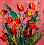 Snow Tree Prints Prints - Tulips Print by Mark Kazav