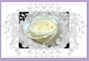 Vision Of Loveliness Mixed Media Posters - Wedding Rose Collection  Poster by Debra     Vatalaro