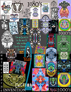 Berlin Drawings Metal Prints - 25th Anniversary Collectors Poster by Upside Down Artist and Inventor L R Emerson II Metal Print by L R Emerson II