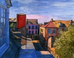 New Drawings - 26  French Quarter Rooftops by John Boles