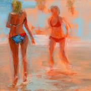 Warm Summer Framed Prints - RCNpaintings.com Framed Print by Chris N Rohrbach