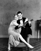 Ukelele Framed Prints - Silent Film Still: Couples Framed Print by Granger