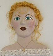 Paper Mache Sculptures - Funky Mama - Meg by Trish Laffrenere