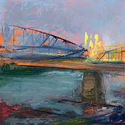 Pittsburgh Framed Prints - RCNpaintings.com Framed Print by Chris N Rohrbach