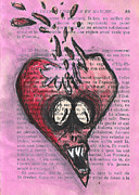 Demon Mixed Media Framed Prints - 27 Fevrier Framed Print by Jera Sky