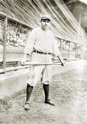 Baseball Bat Photo Prints - George H. Ruth (1895-1948) Print by Granger