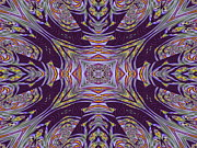 Flower Kaleidoscopes Prints - Pansy Print by Michele Caporaso