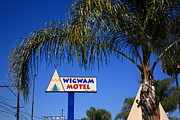 Shield Posters - Route 66 - Wigwam Motel Poster by Frank Romeo