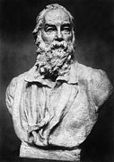 Portrait Sculpture Photograph Prints - Walt Whitman (1819-1892) Print by Granger