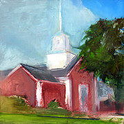 Church Painting Prints - RCNpaintings.com Print by Chris N Rohrbach