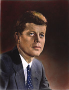 Democratic Party Photos - John F. Kennedy (1917-1963) by Granger