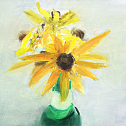 Black Eyed Susans Framed Prints - RCNpaintings.com Framed Print by Chris N Rohrbach