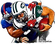 New York Jets Framed Prints - 286 Framed Print by Jack Kurzenknabe