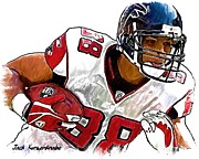 Sports Nfl Art Sketch Drawings Nfl Art Nfl Artwork Nfl Drawings Nfl Sketches Seattle Seahawksseattle Seahawks Russell Wilson Digital Art - 287 by Jack Kurzenknabe