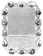 Declaration Of Independence Prints - Declaration Of Independence Print by Granger