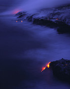 Glowing Water Posters - Lava Flow Poster by G. Brad Lewis