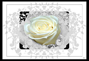 Formal Mixed Media Posters - Wedding Rose Collection  Poster by Debra     Vatalaro