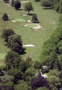 Aerials Of Philly Cricket Framed Prints - 2nd Hole Philadelphia Cricket Club St Martins Golf Course Framed Print by Duncan Pearson