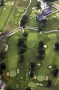Pearson Aerial - 2nd Hole Philadelphia Cricket Clubs Wissahickon Golf Course by Duncan Pearson