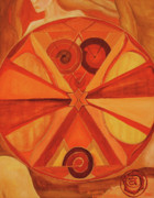 Chakra Paintings - 2nd Mandala - Sacral Chakra by Jennifer Christenson