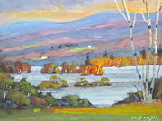 Berkshires Paintings - 2nd Pond by Len Stomski