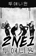 Kenal Louis Posters - 2NE1 Korean Pop Power Poster by Kenal Louis