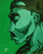 Rap Painting Prints - 2Pac 4Ever Print by Jason JaFleu Fleurant