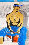 Rap Music Painting Originals - 2pac by Estelle BRETON-MAYA