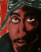 Fleurant Paintings - 2Pac by Jason JaFleu Fleurant