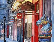 New Orleans Drawings - 3   French Quarter Hitching Post by John Boles