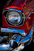 Badges Prints - 1957 Chevy Bel Air Custom Hot Rod Print by David Patterson