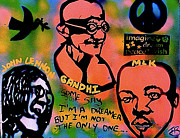 Martin Luther King Jr Paintings - 3 4 Peace by Tony B Conscious