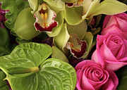 New York Photos - A Close-up Of A Bouquet Of Flowers by Nicholas Eveleigh