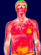 Nude Men Prints - A Thermogram Of A Man Print by Ted Kinsman