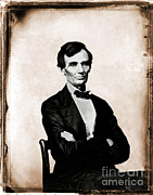 Abolition Prints - Abraham Lincoln, 16th American President Print by Photo Researchers