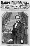 Front Page Framed Prints - Abraham Lincoln 1809-1856 Framed Print by Everett