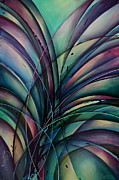 Lavenders Prints - Abstract Design Print by Michael Lang