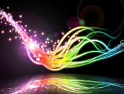 Abstract Digital Art - Abstract Lighting Effect  by Setsiri Silapasuwanchai