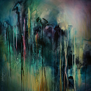 Abstract  Print by Michael Lang
