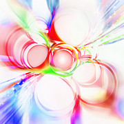 Old Digital Art Prints - Abstract Of Circle  Print by Setsiri Silapasuwanchai